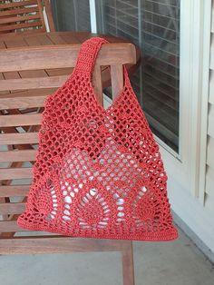 Pineapple Bag: free crochet pattern