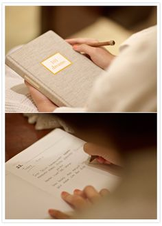 Journaling the day of your wedding.