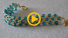 You will see that this bracelet is very easy to make and stylish. Bead Crafts, Jewelry Crafts, Diy And Crafts, Beaded Jewelry, Beaded Bracelets, Bijoux Diy, Beaded Embroidery, Jewerly, Beads