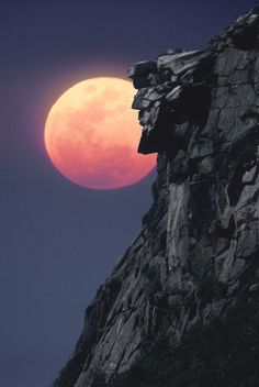 Old Man Of the Mountain, New Hampshire      The old man lost his face...it fell off a few years ago! So sad!