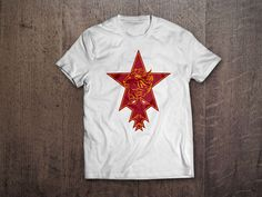 Dört Yıldız T-Shirt 29,99TL'ye www.sariylakirmizi.com adresinde - %100 Pamuklu  - Emprime Baskılı - 1. Sınıf Standart Basic Penye T-Shirt - Regular Fit