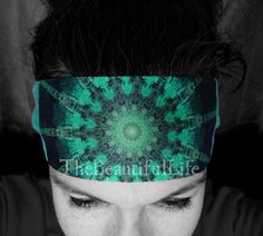 The bandanas/headbands in this limited edition Anahata collection each feature one of my original mandala chakra images. All of the mandalas in this series are digital reconstructions of a single photograph of an echinacea bud from my garden.