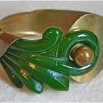 vintage carved bakelite bracelet