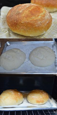 Easy bread recipe, it will require only a few minutes of your time. Easy bread recipe, it will require only a few minutes of your time. Knead Bread Recipe, No Knead Bread, Gluten Free Bread Bowl Recipe, Yeast Bread, Easy Bread Recipes, Baking Recipes, Cornbread Recipes, Jiffy Cornbread, Whole30 Recipes