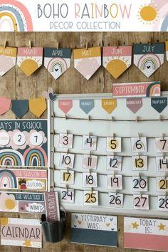 Elementary Classroom Themes, Kindergarten Classroom Decor, New Classroom, Classroom Design, Classroom Displays, Classroom Ideas, Ideas For Classroom Decoration, Classroom Board, Classroom Decor Themes