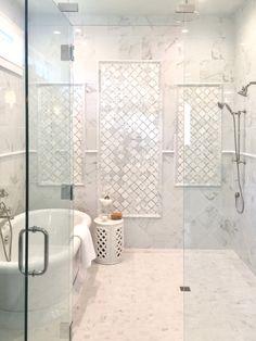 125 best master bathroom shower remodel ideas to try 61 Master Bathroom Shower, Shower Tub, Bathroom Showers, Bath Tub, Bath Room, Master Bath Tile, Bathroom Cabinets, Marble Tile Shower, Shower Ceiling Tile