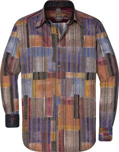 Robert Graham Knights Bridge Sport Shirt Cool Shirts, Tee Shirts, Mens Attire, Robert Graham, Boys Wear, Fabric Textures, Sports Shirts, Learn English, Knight