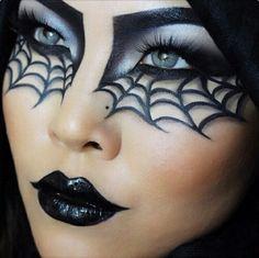 Halloween, make up, and black image