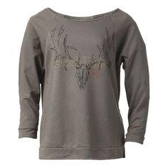 Black Antler Women's Subtle 3/4 Sleeve Shirt