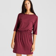 ARMEDANGELS   Lumi Kleider Jersey Solid  - bordeaux