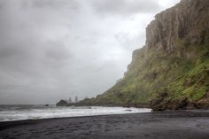 https://flic.kr/p/miCFgg | Iceland | What a beautiful coast at Vik that is. Black Lava on the beach and stormy weather with thick clouds. Quite challenging to get covered from the sand flying around.
