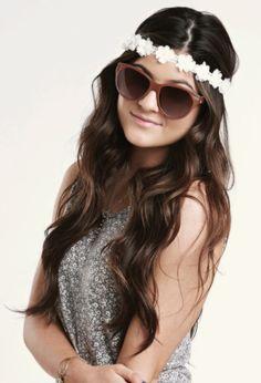 headband and sunglasses