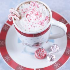 Peppermint and hot chocolate...two of my very favorite things:)