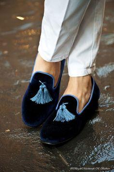 Velvet slippers with long tassel. http://www.well-dressed.it/index.html