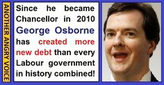 George Osborne has created more debt than every Labour government in history! Thats not including his cocaine addiction, probably on tax payer expenses! Eric Blair, New World Order, All The Way Down, Greed, Debt, Over The Years, Politics, History, Historia