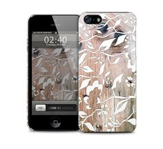 floral wood pattern phone case