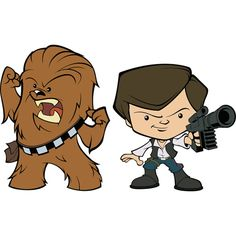 Han Solo & Chewbacca POP! Wall Decal | Shop Fathead® for POP! Star Wars Decor