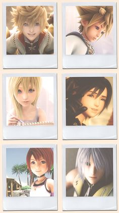 Roxas, Sora, Namine, Xion, Kairi, & Riku