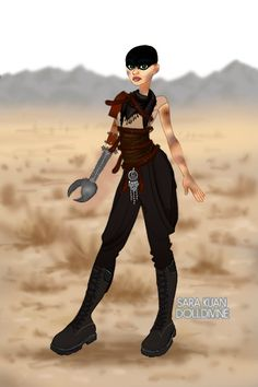 Furiosa ~ by LadySky ~ created using the Urban Chic doll maker | DollDivine.com