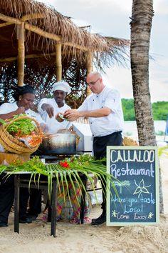 Organic Caribbean beach restaurant at The Landings St. Lucia