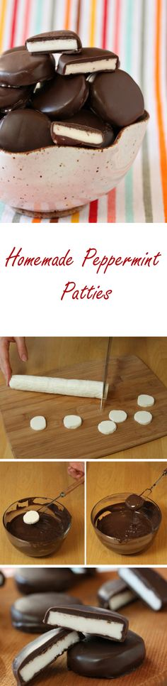 peppermint patties are one of the easiest candies to make.