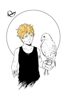 """@loweana.tumblr.com: """"""""When the boy was six years old, his father gave him a falcon to train. […] For weeks his wrists and hands were always bleeding. He didn't know it, but his father had selected a falcon that had lived in the wild for over a year, and thus..."""