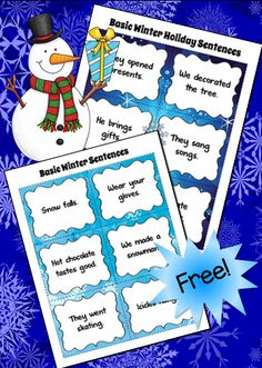 Winter Sentences to Revise freebie and a fun writing lesson to help your students write longer, more interesting sentences.