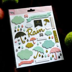 Rainy Days Self- adhesive Chipboard Sticker for Scrapbooking/ DIY Crafts/ Card Making Decoration
