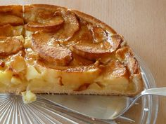 Apple Kuchen Recipe German, German Apple Cake, Apple Recipes Easy, Easy Cake Recipes, Sweet Recipes, Recipe Icon, Tasty, Yummy Food, Happy Foods