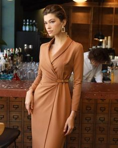 Winter Warmers, Office Fashion, Fall Trends, Chic Outfits, Wrap Dress, Winter Fashion, Plus Size, Street Style, Womens Fashion