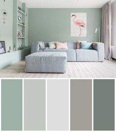 5 cool lounge coloration concepts If you want to bring a new atmosphere into the living room, one way you can do it is to change the paint color of the living room. The technique of applying the color of the living room paint th Room Wall Colors, Bedroom Paint Colors, Paint Colors For Living Room, Living Room Color Schemes, Living Room Designs, Living Room Decor, Bedroom Decor, Interior Color Schemes, Dining Room