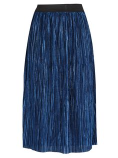 11009a90d2 STYLE REPUBLIC Metallic Midi Skirt Dark Blue