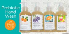 Love the Prebiotic Hand Wash - a great sale right now too! www.ourlemongrassspa.com/AlliG