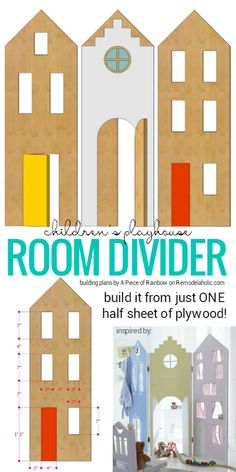 DIY room divider | kids room design | small space solutions | shared kids rooms