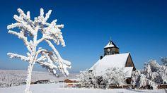 Trotz Bibber-Kälte: So schön kann Winter sein! Altenberg Erzgebirge Bild    dpa