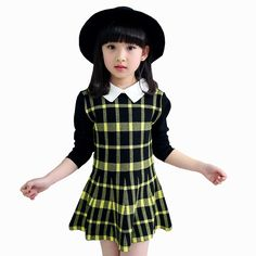 14.01$  Watch now - http://alid76.shopchina.info/1/go.php?t=32706857369 - Tribros 2017 Spring Autumn Girl Children Classic Plaid Clothes Infant Kid Evening Costume Princess Baby Next Tutu Party Dresses  #aliexpresschina