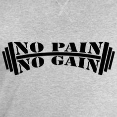 No Pain No Gain Bodybuilding Design Tee shirts - Sweat-shirt Homme Stanley & Stella
