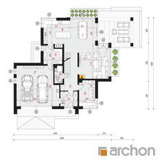 Dom w felicjach 3 Facade House, Modern House Design, House Floor Plans, Traditional House, Architecture, Planer, Pergola, New Homes, Houses