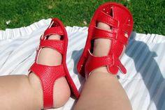 DIY сандалики из кож зама