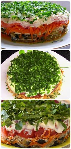 Eggplant Paradise Salad: A Delicious Dish-Салат «Баклажанный рай Salad Recipes Healthy Lunch, Salad Recipes For Dinner, Chicken Salad Recipes, Easy Salads, Healthy Salad Recipes, Grilled Chicken Kabobs, Devilled Eggs Recipe Best, Vegan Dinners, Eating Clean