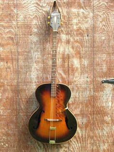 Vintage 1941 Epiphone Masterbilt Olympic Plectrum Tenor Guitar~w Original Case #Epiphone