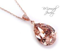 Soft Pink Necklace Rose Gold Necklace Blush by BeYourselfJewelry $22.37 each Etsy