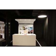 black-out curtains installed on microflexes, in Praga Museum in Warszawa, made and fixeb by firanelle.pl