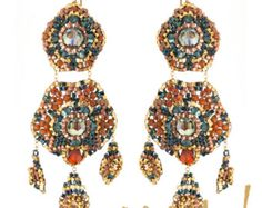 Earrings with Swarovski Crystal and Handmade by OhlalaJewelry