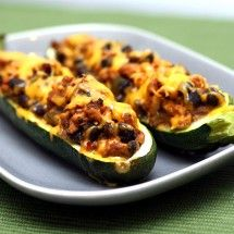 Southwestern Stuffed Zucchini Boats - will try this week.