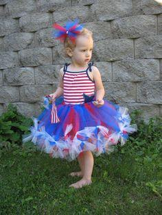 Patriotic 4th of July PettiTutu Petti Tutu  $30