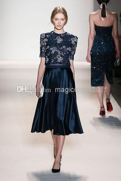 2014 Amazing Lace Jenny Packham A-Line Short Sleeved Elastic Satin Appliques Evening Dress Gown with Beading Evening Gowns Beautiful Prom Gowns Online with 115.66/Piece on Magicdress2011's Store   DHgate.com