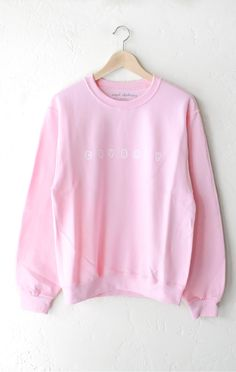 a0d60360 Description Details: 'Crybaby' oversized sweater in pink. Brand: NYCT  Clothing