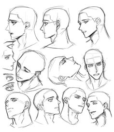 Male Face Drawing, Drawing Face Expressions, Face Drawing Reference, Drawing Heads, Guy Drawing, Drawing Reference Poses, Drawing Tips, Face Profile Drawing, Anime Male Face