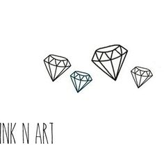 4pcs Set Tiny Diamond - InknArt Temporary Tattoo - Gemstone set wrist... ($2.99) ❤ liked on Polyvore featuring accessories, body art, fillers, backgrounds, doodles, drawings and quotes